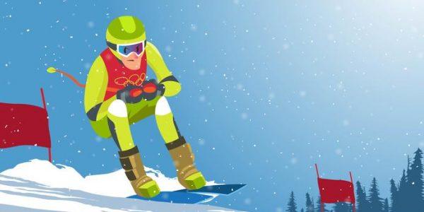 175183 jeux olympiques d hiver vectoriel