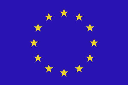 60552201 drapeau de l union europeenne vector illustration