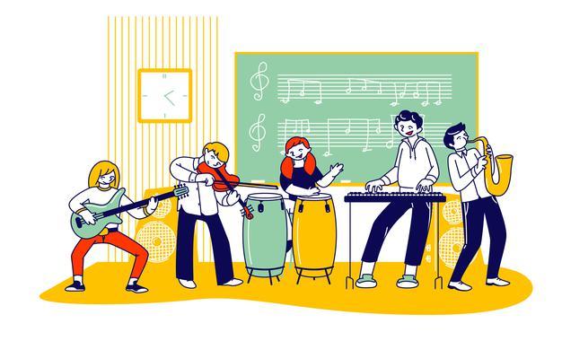 ecole musique illustration plate dessin anime 87771 7989