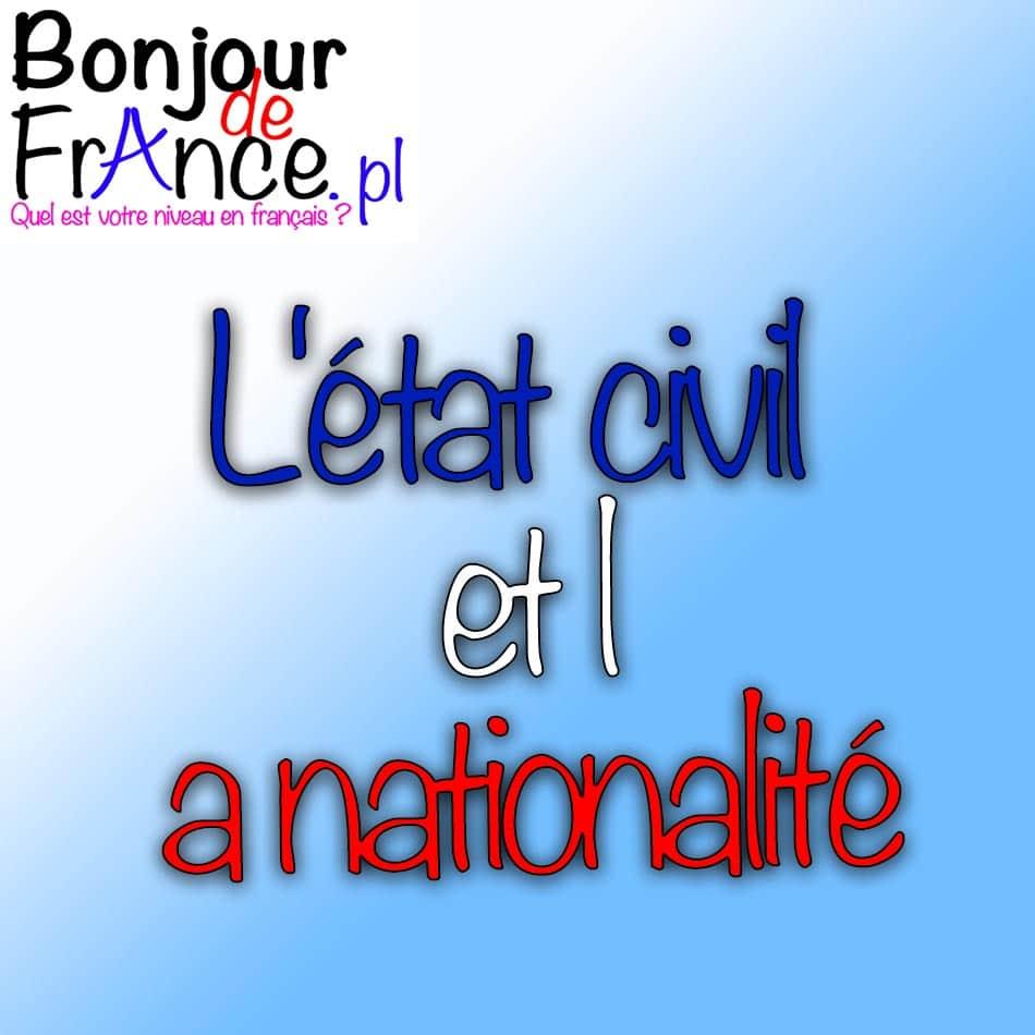 L'état civil et la nationalité